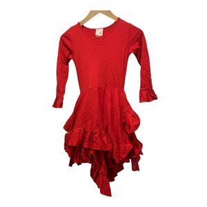 Lemon Loves Lime - Red Tiered Dress Ruffle